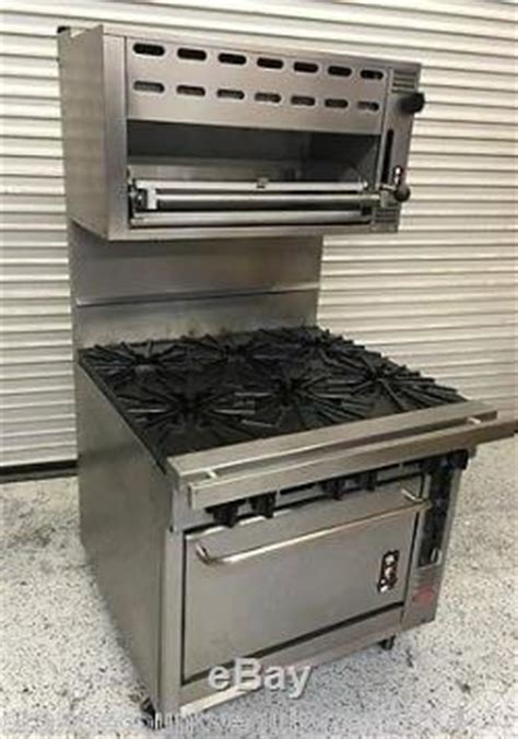 Montague 36 Range Convection Oven 6 Open Burners Gas