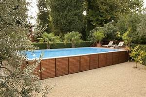 Piscine Hors Sol Bois Rectangulaire : piscine hors sol bois id es et conseils pour votre jardin ~ Dailycaller-alerts.com Idées de Décoration