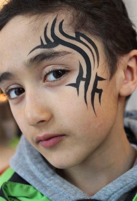 Simple Tribal Face Paint Drone Fest
