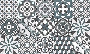 tapis vinyle carreaux de ciment ginette bleu gris With carreaux de ciment bleu