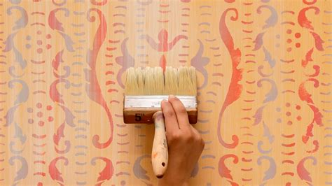 paint stencil diy tutorial colorful rustic