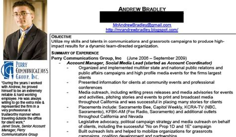 guerrilla resumes mrandrewbradley a new resume