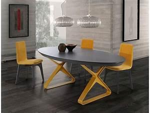 Table Ovale Design : table ovale extensible c ramique pieds m tal st junien ~ Teatrodelosmanantiales.com Idées de Décoration