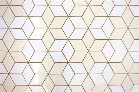 white tile backsplash tile trend modern scandinavian diamonds