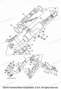 Yamaha Atv 2013 Oem Parts Diagram For Exhaust