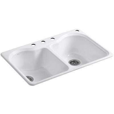 Kohler Hartland Sink Weight kohler hartland top mount cast iron 33 in 4