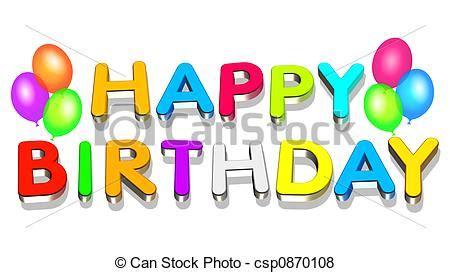 3d Happy Birthday Photo by Stock Illustration Of Happy Birthday An Illustration