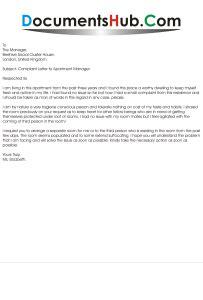 complaint letter  apartment manager documentshubcom