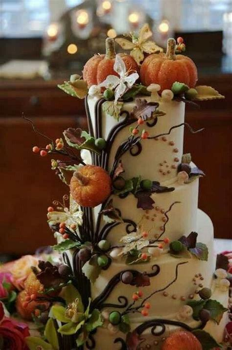 fabulous fall cakes  cupcakes decorating ideas
