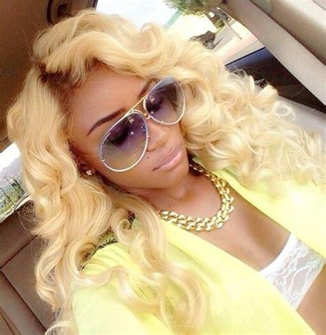 long blonde hair     african american