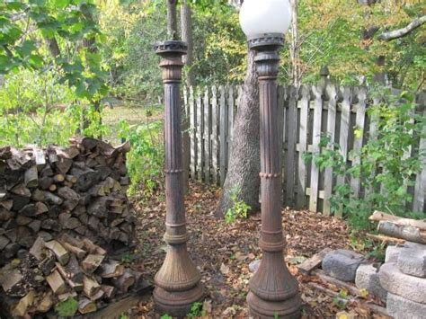Pair Of Antique Cast Iron Street Lamp Posts Signed George Cutter « Obnoxious Antiques Chicago Botanic Garden Antique Show 2018 Furniture Cart Coffee Table How To Stain Wood Tractor Paisley Ontario Lighting Fixtures Minneapolis Mexican Colonial Antiques Car Tire Sizes Consignment Houston Tx