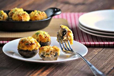 Baking pan coated with cooking spray. Crab Stuffed Mushrooms with Bacon - Low Carb, Gluten Free | Peace Love and Low Carb