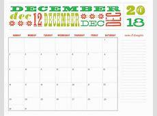 Dec 2018 Calendar December 2018 Calendar Word Calendar