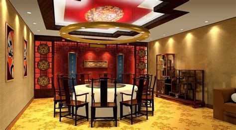 Chinese Style Tea Room Interior