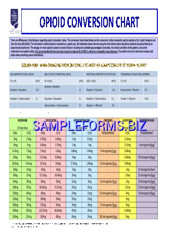 narcotic conversion table pdf opioid conversion chart pdf photo opioid conversion