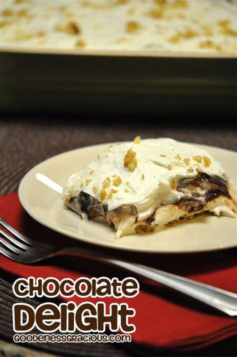 chocolate delight chocolate delight dessert recipe paula deen