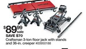 craftsman 3 ton floor stands and creeper set at sears black friday 2011