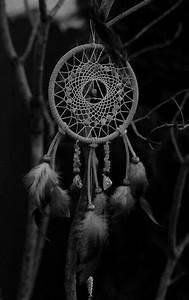 background, white, dreamcatcher, tumblr, black - image ...