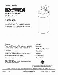 Kenmore Intellisoft 350 Series 625 383560 User Manual