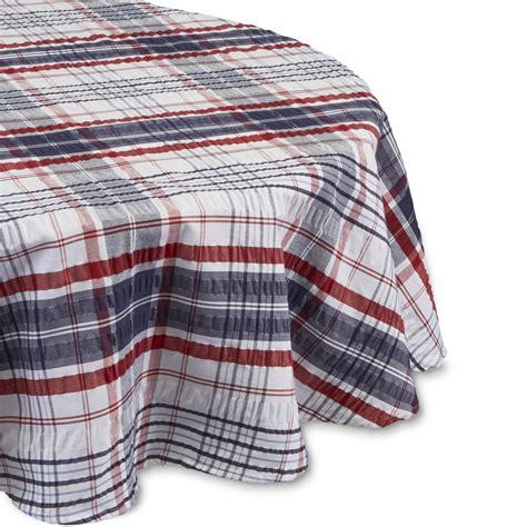 plaid tablecloths essential home patriotic plaid tablecloth kmart