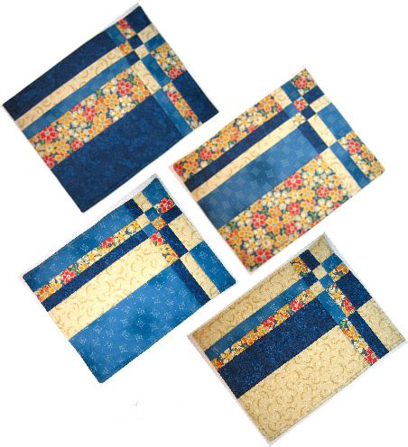 quilted placemat patterns quot take four quot placemats pattern