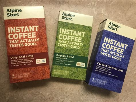 Coffee and matcha infused with a few extra benefits (other than lubricating your digestive system). Alpine Start Instant Coffee - Raeosunshine
