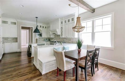 built in kitchen bench and table beautiful kitchen islands with bench seating designing idea