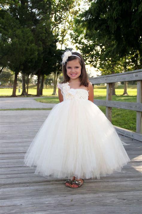 elegant ivory flower girl tutu dress flower girl dress