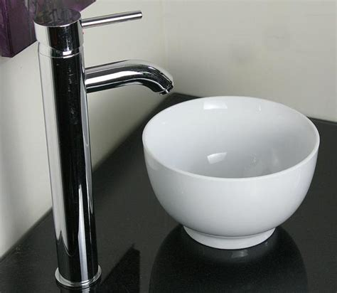 small white vessel sink 9in very small baby round white porcelain ceramic modern