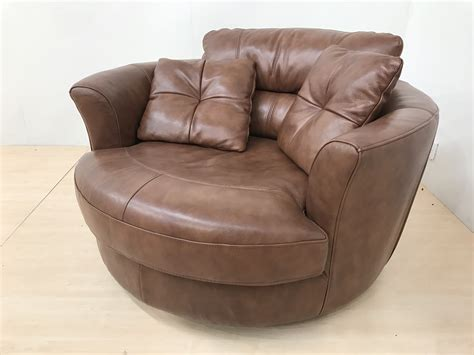 mizzoni italia high quality leather swivel cuddle chair furnimax brands outlet