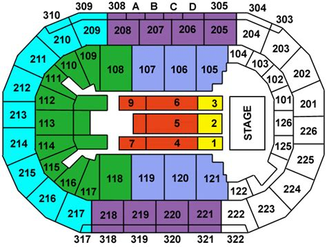 Mandalay Bay Arena Floor Plan by Kevin Hart What Now Las Vegas Premier List