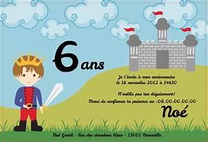 Carte Anniversaire Pour Enfant : invitation fete garcon lourdoueix23 ~ Melissatoandfro.com Idées de Décoration