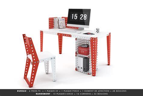 bureau en kit meccano home nouvelle marque de mobilier en kit inspirée