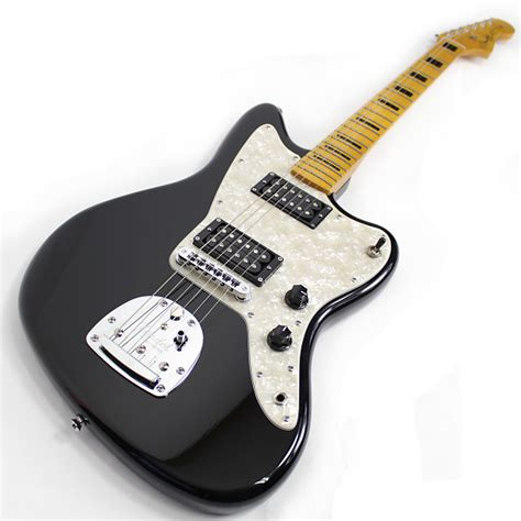 fender modern player jazzmaster hh black reverb