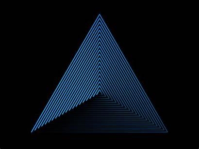 Triangle Gifs Animation Loading Illusions Giphy Animated