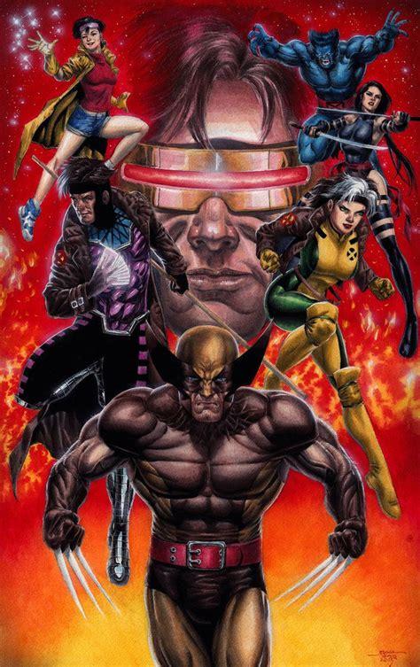 X-Men Blue Team Watercolor by edtadeo   Marvel comics ...