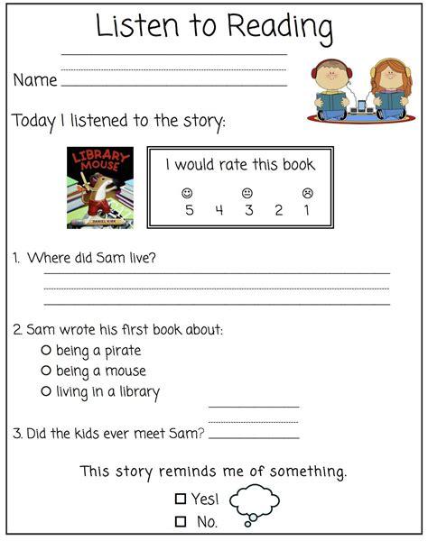 the grade bloom worksheet for listening comprehension