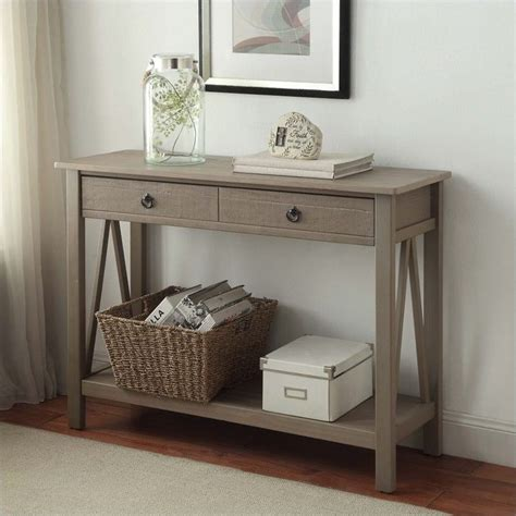 grey entryway table console table in rustic gray 86152gry01u