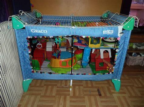 homemade rat play     portable crib small