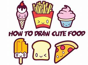 how to draw kawaii food Archives - How to Draw Step by ...