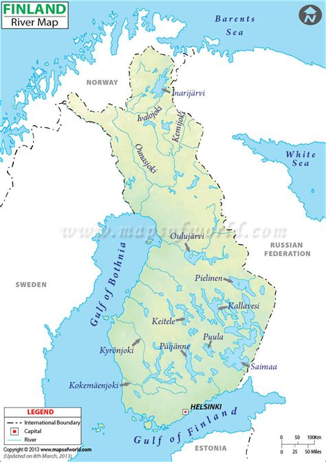 finland river map visit finland maps  map