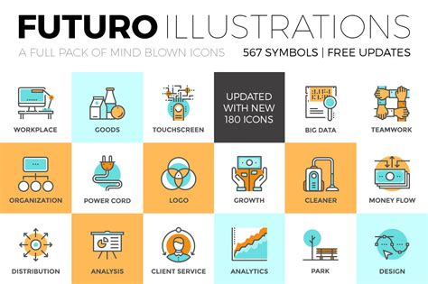 futuro illustrations collection icons creative market