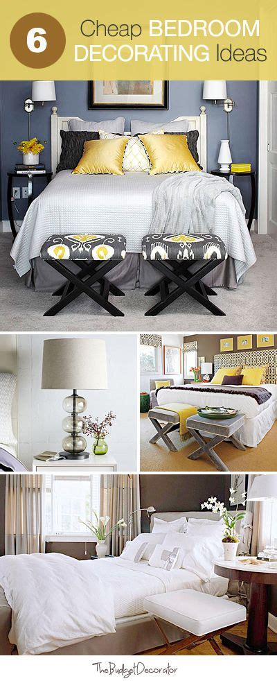 cheap bedroom decorating ideas pinterest guest rooms
