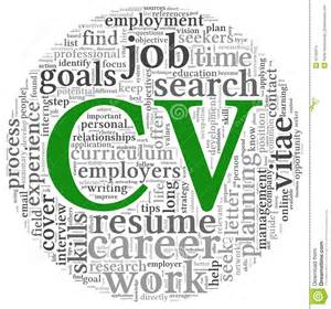 Curriculum Vitae Concept In Word Tag Cloud Stock Images