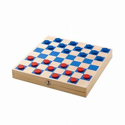 Checkers Wooden Mini Board