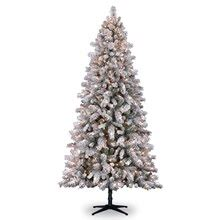 heavy flocked christmas tree clearance 7 5 ft pre lit white flocked vermont pine artificial tree clear lights by ashland