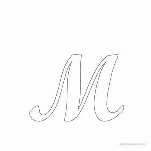 print free alphabet stencils cursive m stencil With cursive letter stencils free