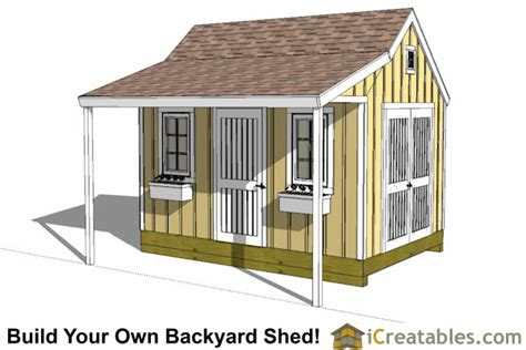 10x14 garden shed plans 10x14 colonial shed with porch plans icreatables sheds