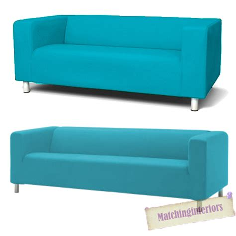 aqua cover slipcover to fit ikea klippan 2 or 4 seater
