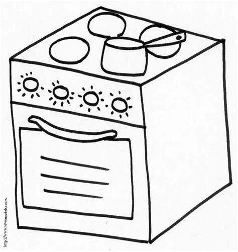 dessin d une cuisine coloriage cuisine